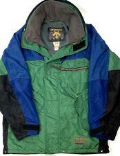 Descente Mens XXL 2XL VTG Green Blue Winter Snow Ski Coat Snowboard Jacket EUC