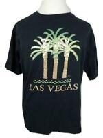 RESORT IMAGES Las Vegas Palm Trees Black And Gold T Shirt