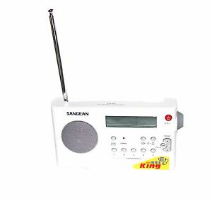 Sangean PR-D7 White PLL Digital MW(AM)/FM Rechargeable Receiver Radio w/110V AC