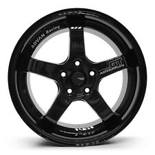 ADVAN GT Racing Alloy Wheels Rim Sports Mags 17X7.5 Stud 5x100 Sets of 4 BLACK