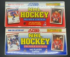 1990-91 Score American & Canadian Bilingual Hockey Factory Sealed Sets Jagr