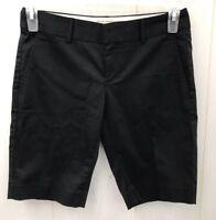 BANANA REPUBLIC Shorts Womens Size 0 Stretch Black Casual Comfy Bermuda NEW $50