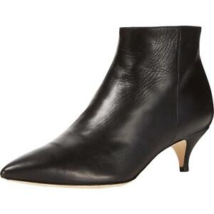 Kate Spade Womens Olly Black Leather Ankle Boots Shoes 7 Medium (B,M) BHFO 9274