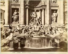 Italie, Roma, Fontana di Trevi Italy. Vintage albumen print. Tirage albuminé
