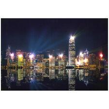 """lux.pro® LED-Wandbild Leinwand 60x40cm """"Hong Kong"""" Bild beleuchtet Leuchtbild"""