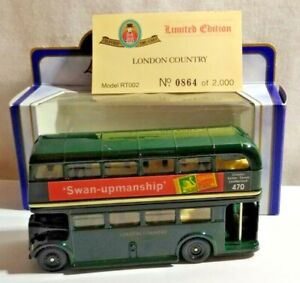OXFORD DIECAST LTD EDITION ROUTEMASTER BUS LONDON COUNTRY - RT002 NO.864 OF 2000