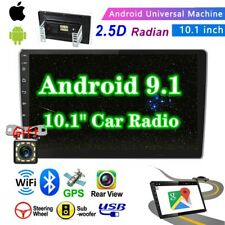 10.1'' 2 DIN Android 9.1 Car Stereo MP5 Player GPS WiFi BT FM Radio + Camera