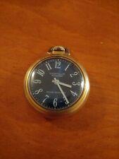 VINTAGE Westclox Scepter Mechanical Wind Up Vintage Pocket Watch rare Blue face