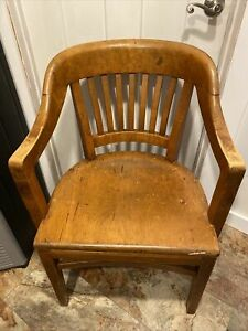 Gunlocke 1950 Wood Chair Court Office Armchair Lots Of Character