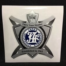 JDM Japan Car Inspection JAF Sticker Automobile Federation 30th Year Member only
