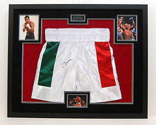OSCAR DE LA HOYA Signed Boxing SHORTS Signed in Las Vegas FRAMED Golden Boy COA