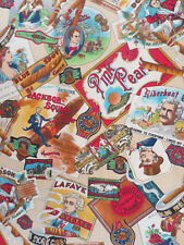 New listing Concord Fabric Kesslers, Vintage Cigar Advertising Cotton Fabric 3 Yards