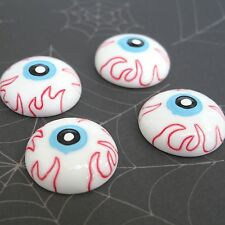 "US SELLER - 10 pcs x 1"" Resin Halloween Eyeball Flatback Embellishments SB613"
