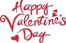 Buon San Valentino Adesivo Decalcomania pareti, Laptop PLACCA 30cm FAI DA TE segni CARD D1
