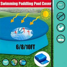 Round Swimming Paddling Pool Cover 6/8/10ft  Inflatable Easy Fast Set Rope