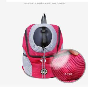Dog Backpack Carrier Large Pet Front Chest Bag Mesh Travel Breathable Adjustable