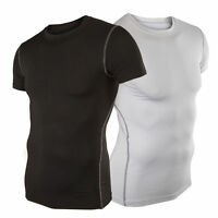New Mens Compression Under Base Layer Top Tight Short Sleeve T-Shirts