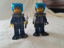 Lego Alpha Team 2002 nMission Deep Sea Minifigures, Dash and Cam w/ Harpoons