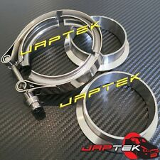 """3"""" 76mm Stainless Steel V Band Clamp & Flange for Turbo Exhaust 3 inch V-band"""