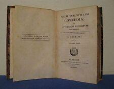 PUBLII TERENTII AFRI COMOEDIAE EX OPTIMARUM EDITIONUM  N. E. LEMAIRE  PARIS 1827