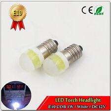 20pcs E10 COB SCREW 1447 style 12V LED LAMP BICYCLE TORCH White 6000K Light Bulb