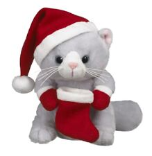 Ganz H8 Christmas Baby Plush Toy Cat 8in - Gift Giving Kitty HX11574