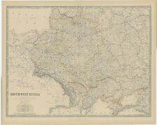 Antique Map of Southern Russia by Johnston (1882)