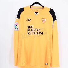 2016-17 Sevilla FC Player Issue Gk Orange Shirt L/S NB *BNWT* M Jersey