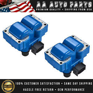 Set of 2 High Performance Ignition Coil For Ford Escort Explorer Mazda626 FD487