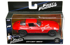 JADA FAST AND FURIOUS 8 LETTY'S CHEVY CORVETTE 1/32 DIECAST MODEL CAR RED 98306