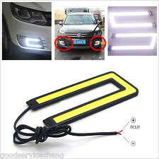 U-Shaped LED TRON STYLE Car Fog DRL Driving Laser Daytime Running Fog Light COB