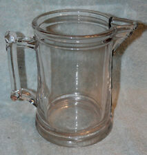 VINTAGE EAPG CLEAR GLASS TAVERN PITCHER TANKARD STYLE