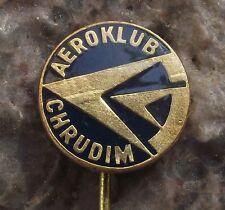 Chrudim Aerodrome Airfield Flying Club Aeroklub Members Pilots Logo Pin Badge