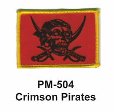 """3""""  CRIMSON PIRATES Embroidered Military Patch"""