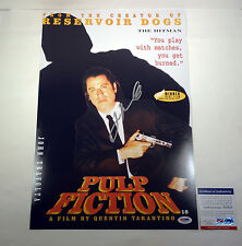 JOHN TRAVOLTA SIGNED AUTOGRAPH PULP FICTION MOVIE POSTER PSA/DNA COA #V87534