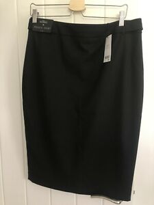 Next Tailoring Black Pencil Skirt Size 14 New With Tags