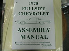 1970 FULLSIZE CHEVY CAPRICE, IMPALA, BELAIR, BISC. (ALL MODELS) ASSEMBLY MANUAL