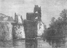 INDIA. Palace of Justice, Bijapur, antique print, 1871