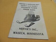 Herter's Hudson Bay Husky & Magnum Power Snowmobile Owners Manual, RARE, 1960's