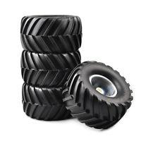 4PCS Rubber 1:10 Bigfoot Tires&Wheel Rims For RC Car Monster Truck 74-54-56