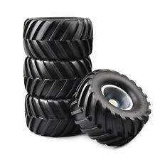 4PCS Set Rubber Tires&Wheel Rims For RC Car 1:10 Bigfoot Monster Truck 74-54-56