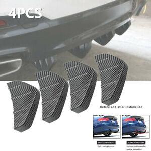 Car Rear Bumper Lip Diffuser Shark Fins Splitter Carbon Fiber fit for Cadillac