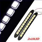 2x 20W Waterproof LED 12V Daytime Running Light DRL #V COB Strip Lamp Fog Car
