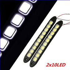 2x 20W Waterproof LED 12V Daytime Running Light DRL #V COB Strip Lamp Fog Car