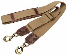 Replacement Padded Luggage Shoulder Strap With Huge Metal Hooks For Travel Bag