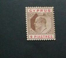 CYPRUS 1904 9pi SG 68 Sc 56 MH with thin