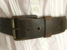 MOSSIMO BELT M Genuine Leather Brown Studs brass buckle chunky distressed