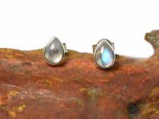 Pear Stud Natural Moonstone Fine Earrings
