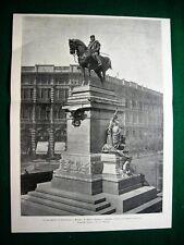 Milano 1895, Il monumento di Garibaldi, di E. Ximenes e A. Guidini