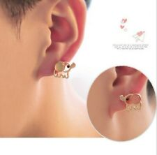 Fashion Cute Animal Elephant Earrings Lovely Piercing Studs Pink